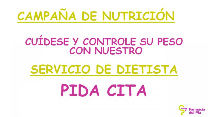 Campaña Dietista 26/29 Enero